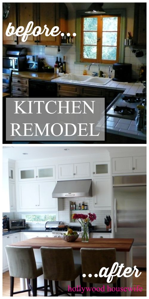 Hollywood Hills kitchen remodel before & after | Hollywood Housewife