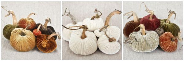 Lovefeast table velvet pumpkins