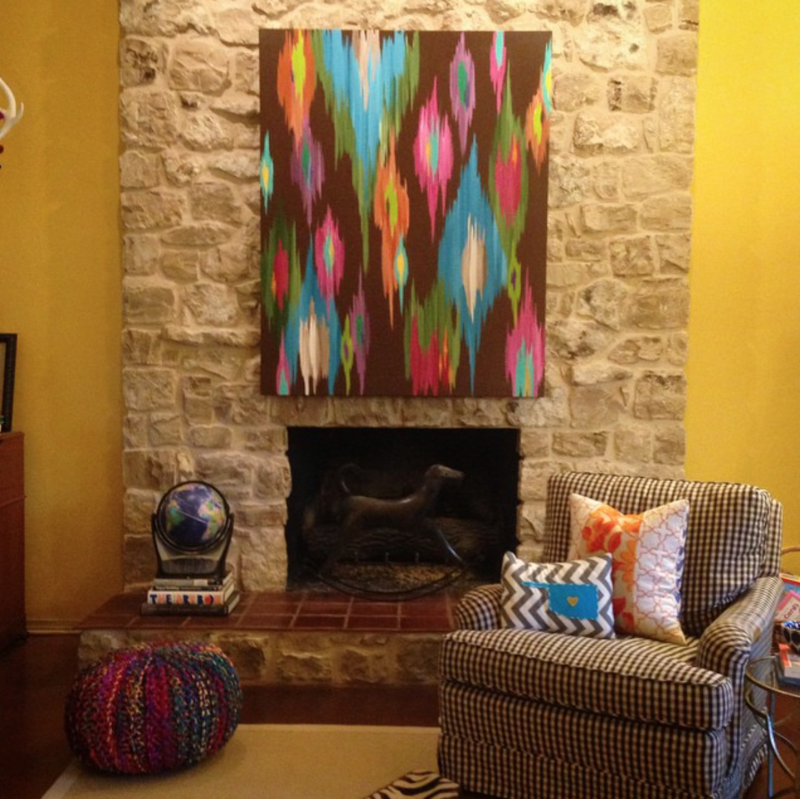 Rita ortloff art over mantle