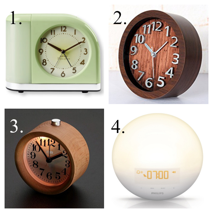 Round alarm clocks that are not ugly.