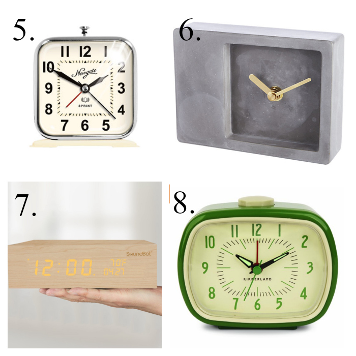 Square alarm clocks that are not ugly