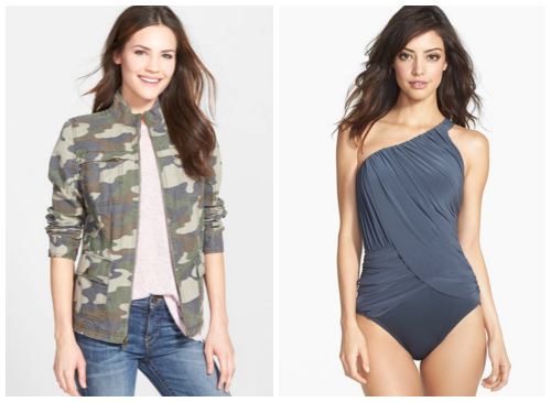 Nordstrom sale camo and swimsuit