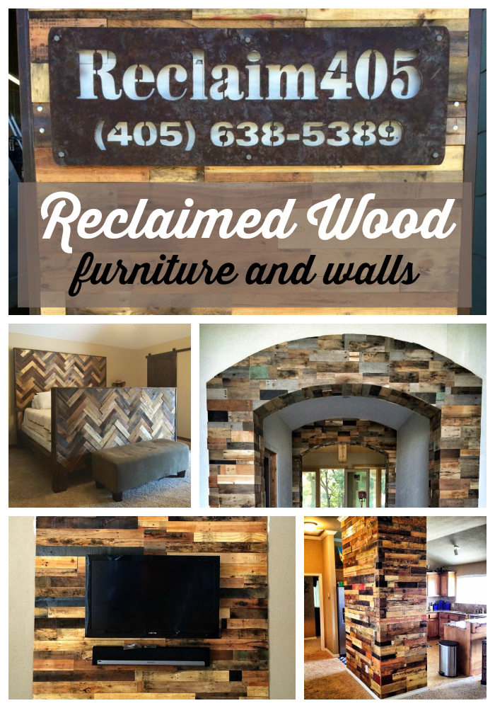 Reclaimed Wood furniture and accent wall ideas