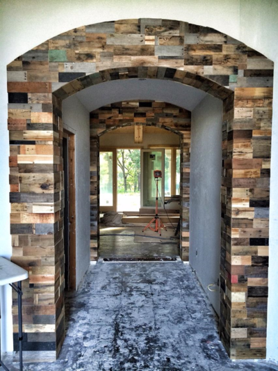 Reclaimed wood arches